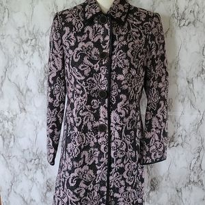 Parisian signature jacquard coat size 10p